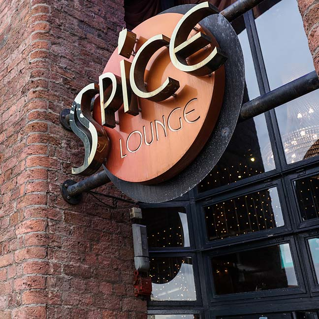 Exterior view of Spice Lounge at Albert Dock