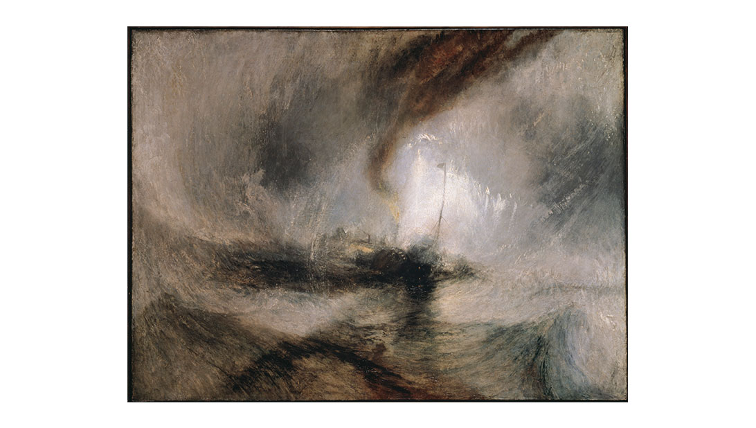 J.M.W. Turner, 1775–1851 Snow Storm - Steam-Boat off a Harbour's Mouth exhibited 1842 - Photography © Tate 2017