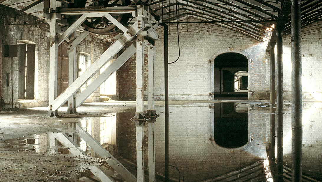 Flooded Albert Dock Building