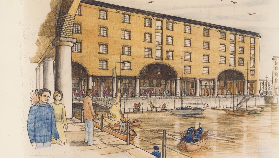 Albert Dock Sketch