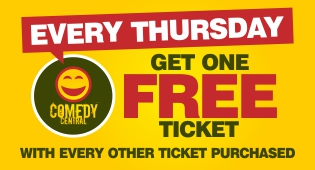 Every Thursday - Get one free ticket