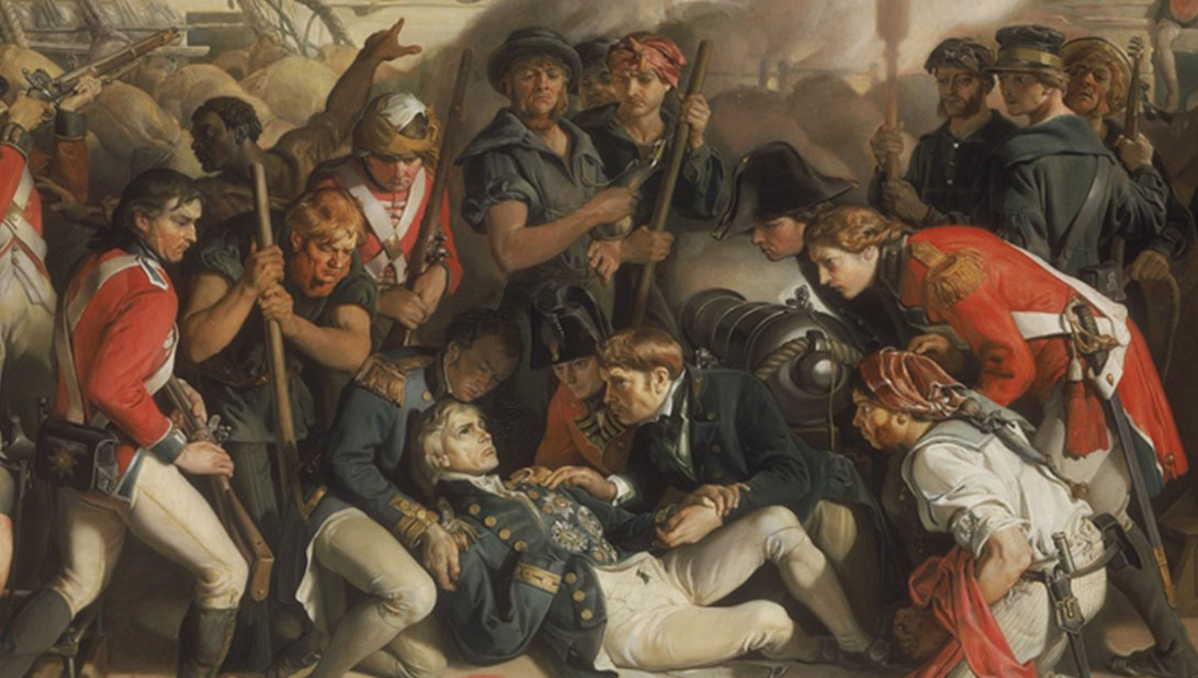 Daniel Maclise, Death of Nelson (detail), 1859-1864 (C) National Museums Liverpool
