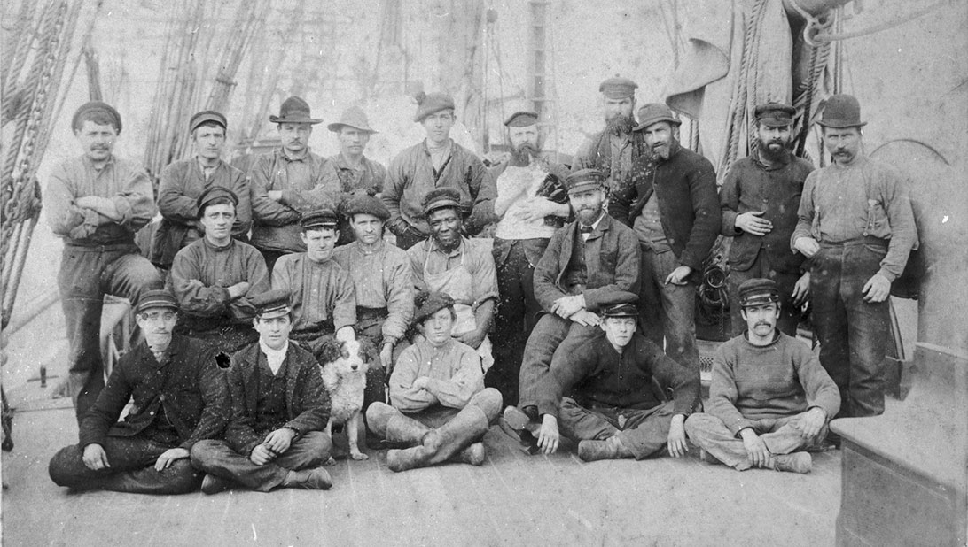 Photograph of crew of ship Moel Eilian c1889, photographer unknown (C) National Museums Liverpool
