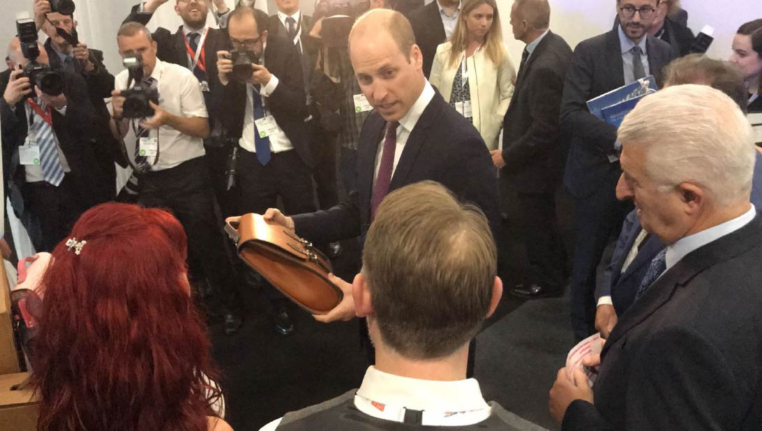Leather Satchel gift to Prince William
