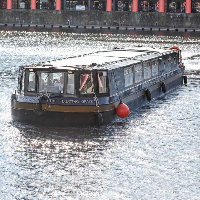 The floating Grace at Albert Dock