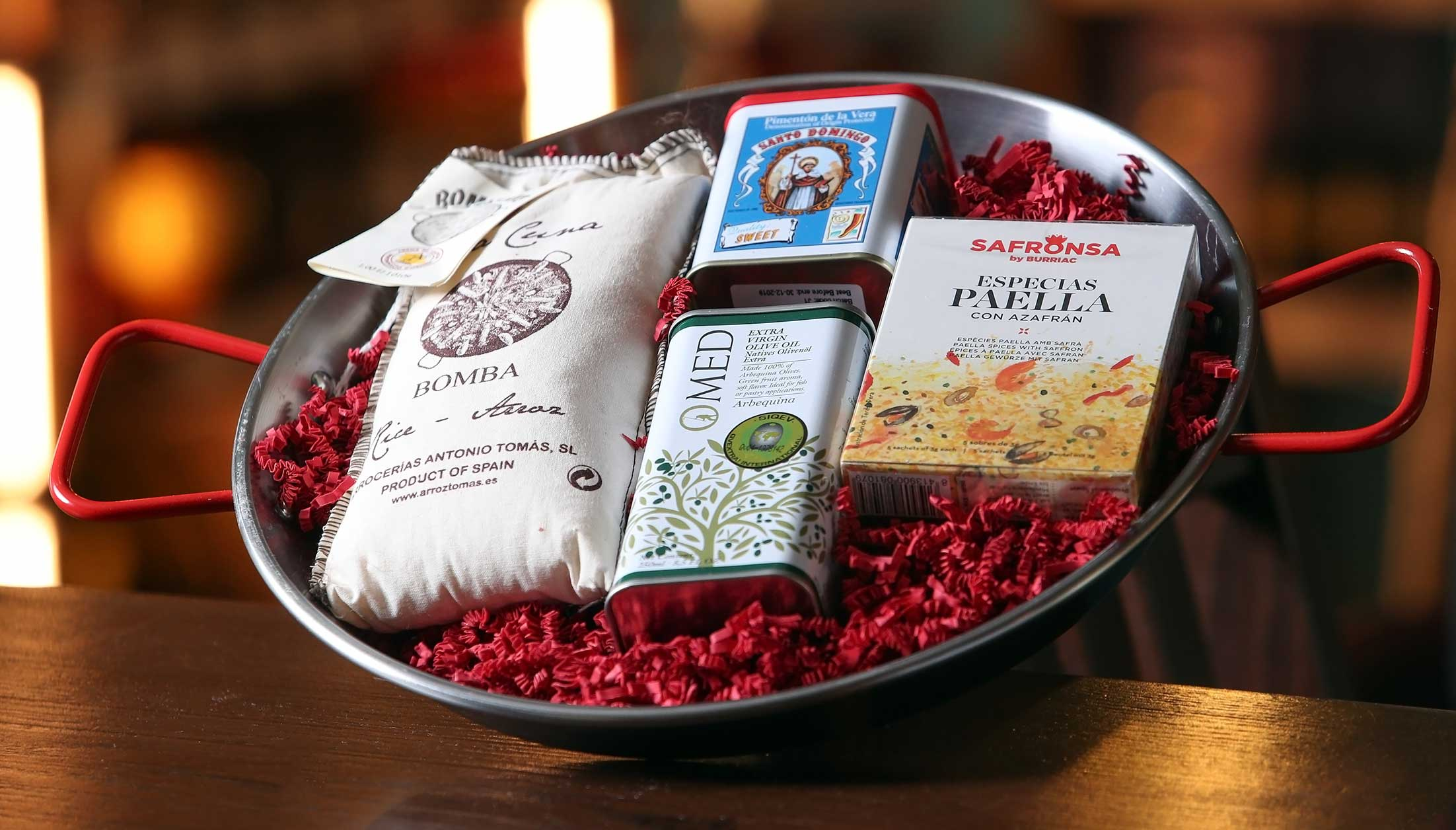 Paella pan gift set