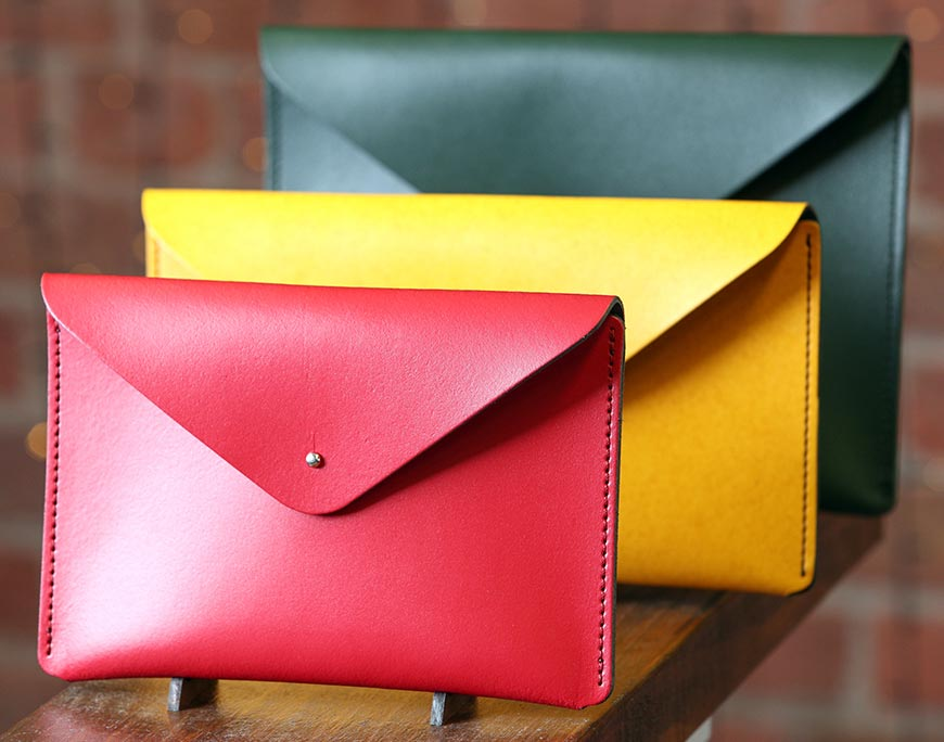 Leather Satchel clutch bags