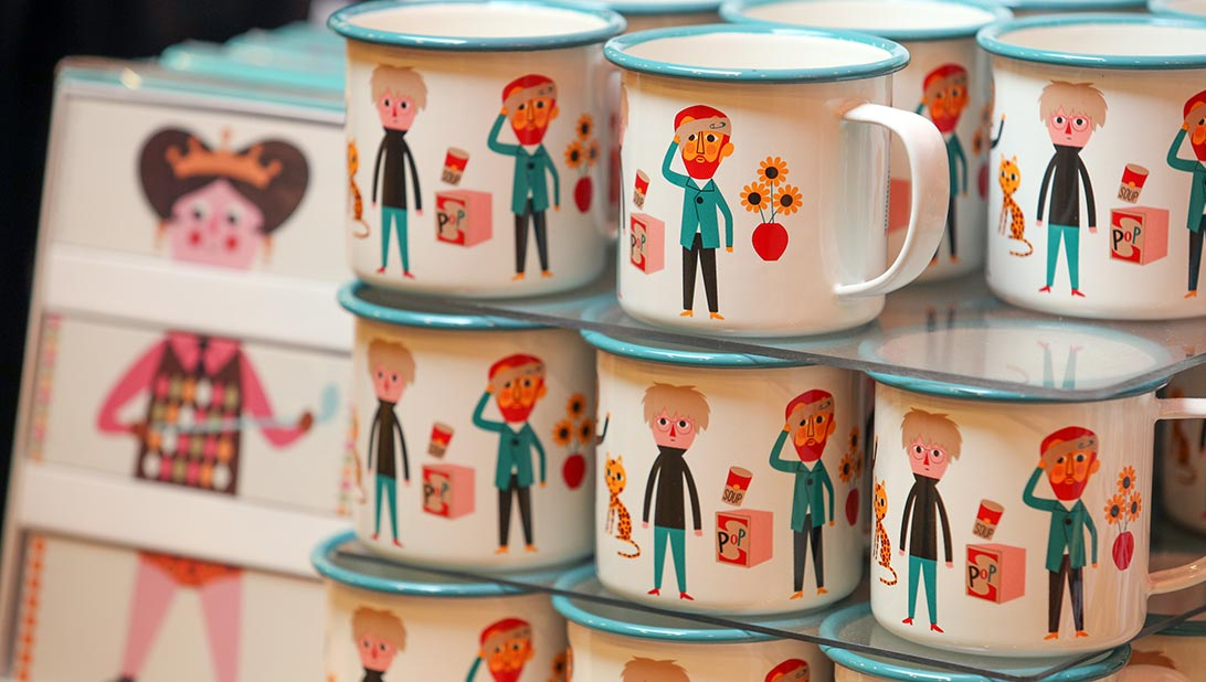 The Modern Artists range enamel mug