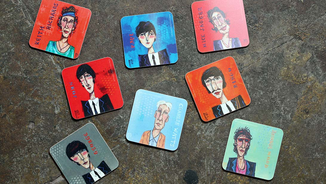 Ritchie Collins' rock star coasters