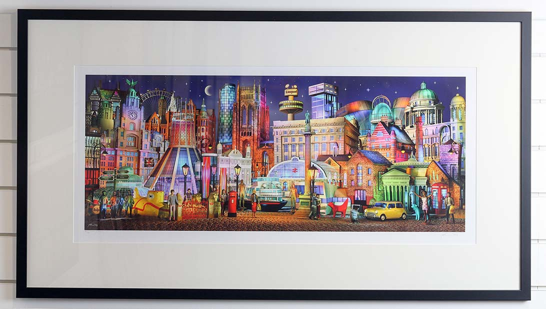 Keith Drury's vibrant Liverpool Nightfall