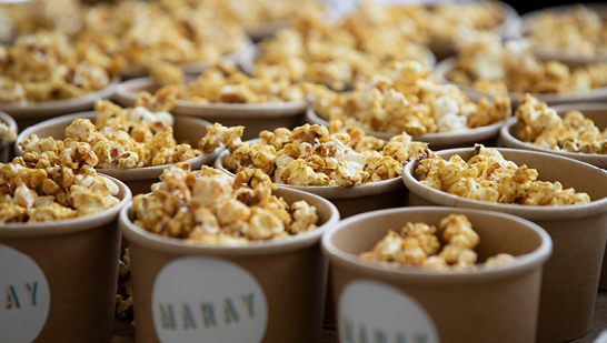 Pop corn from Maray Royal Albert Dock Liverpool